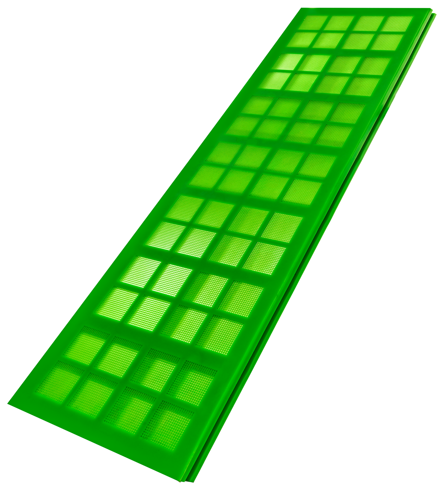 Resistant polyurethane sieves with highest open screen area! - 1